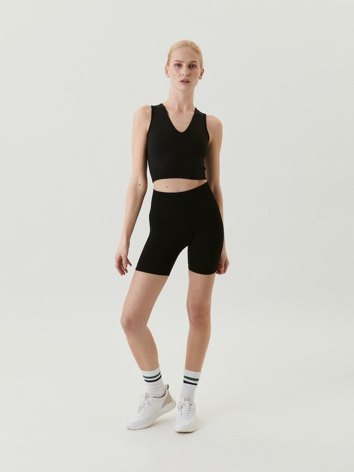 Sthlm Seamless Rib Shorts Black Beauty
