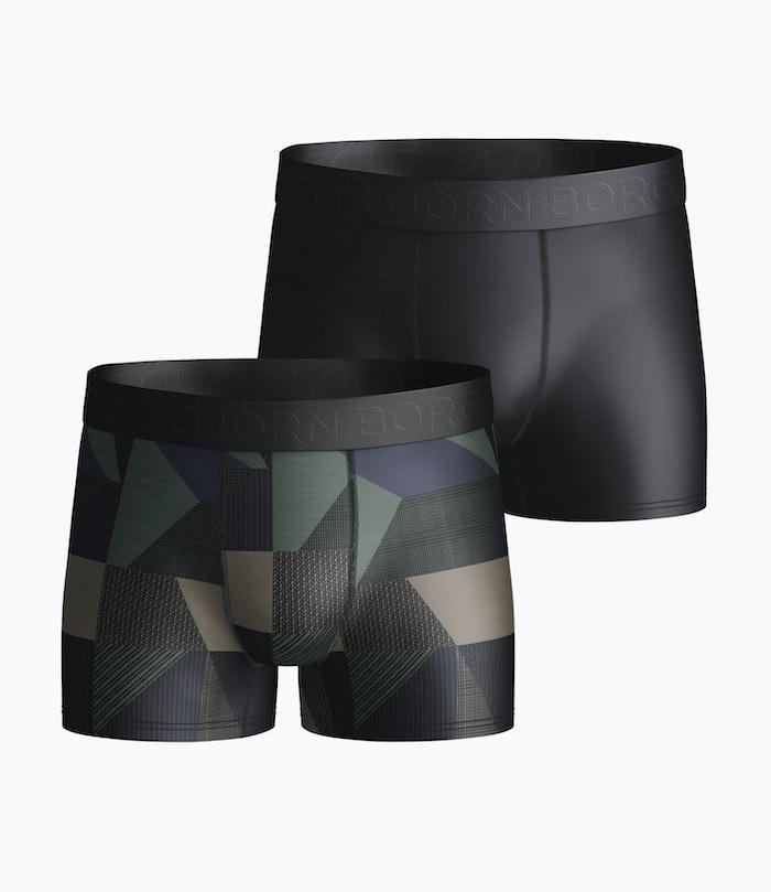 Textured Block Boys Shorts 2-pack