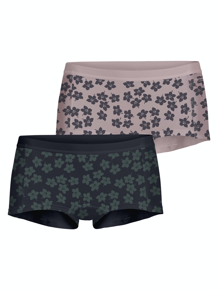 Graphic Floral Cotton Minishorts 2-pack