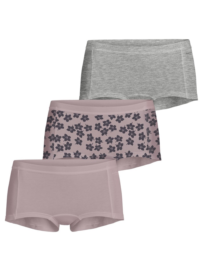 Graphic Floral Cotton Minishorts 3-pack