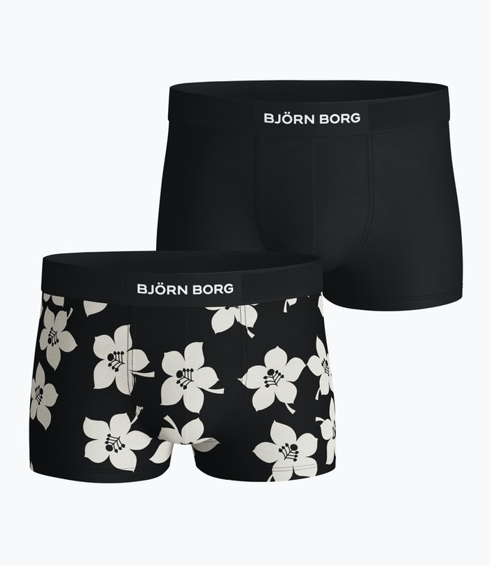 Graphic Floral Cotton Stretch Trunk 2-pack