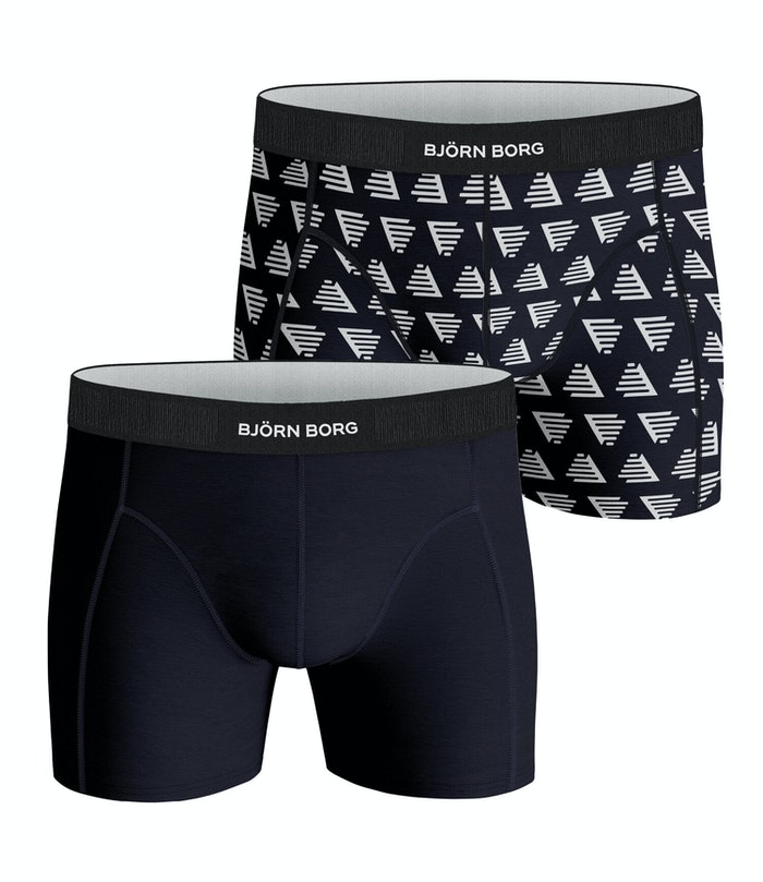 Pyramid Cotton Stretch Shorts 2-pack