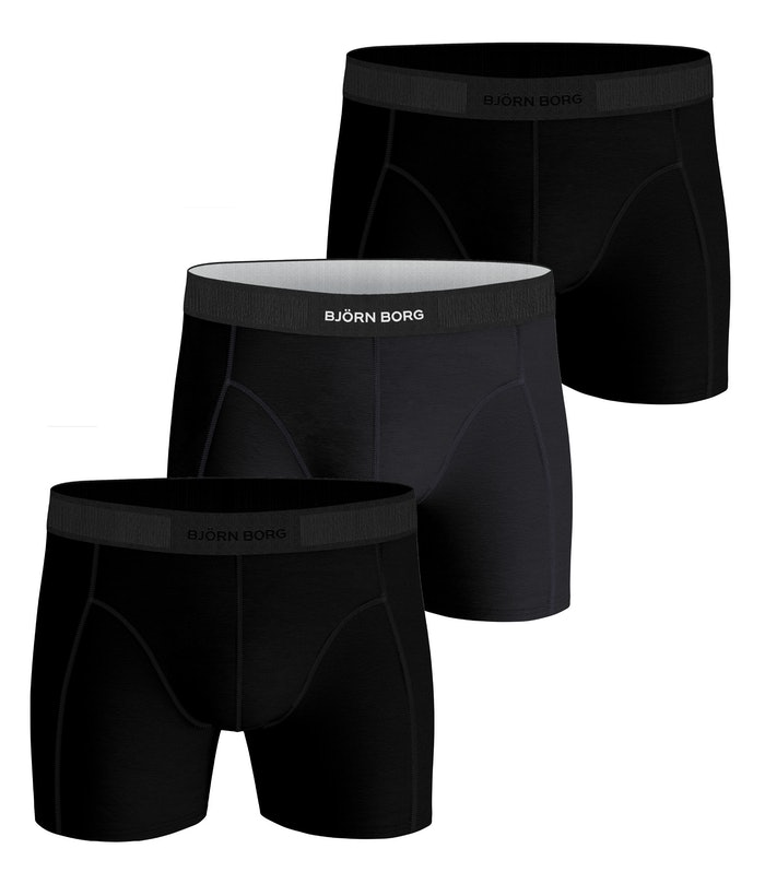 Solid Cotton Stretch Shorts 3-pack