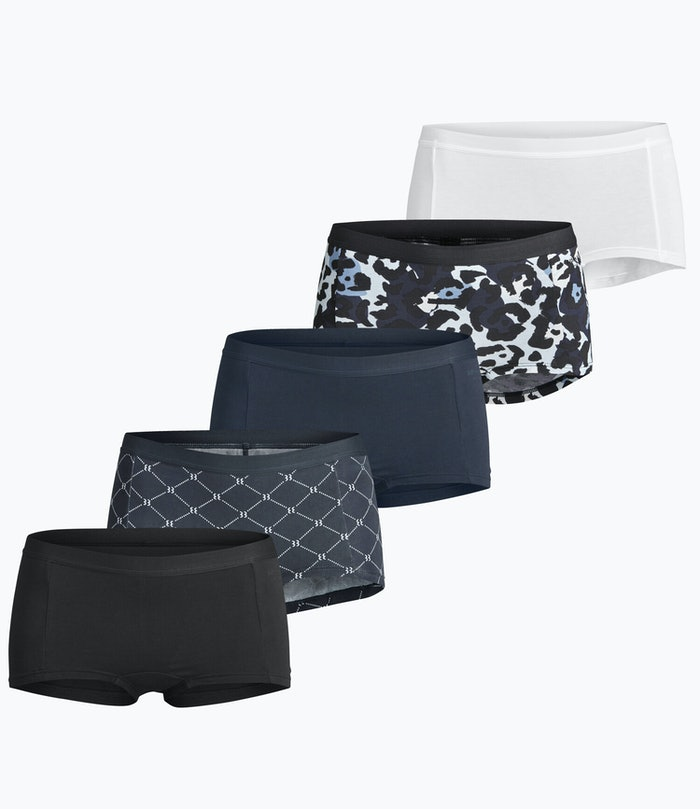 Tennis Net Cotton Minishorts 5-pack