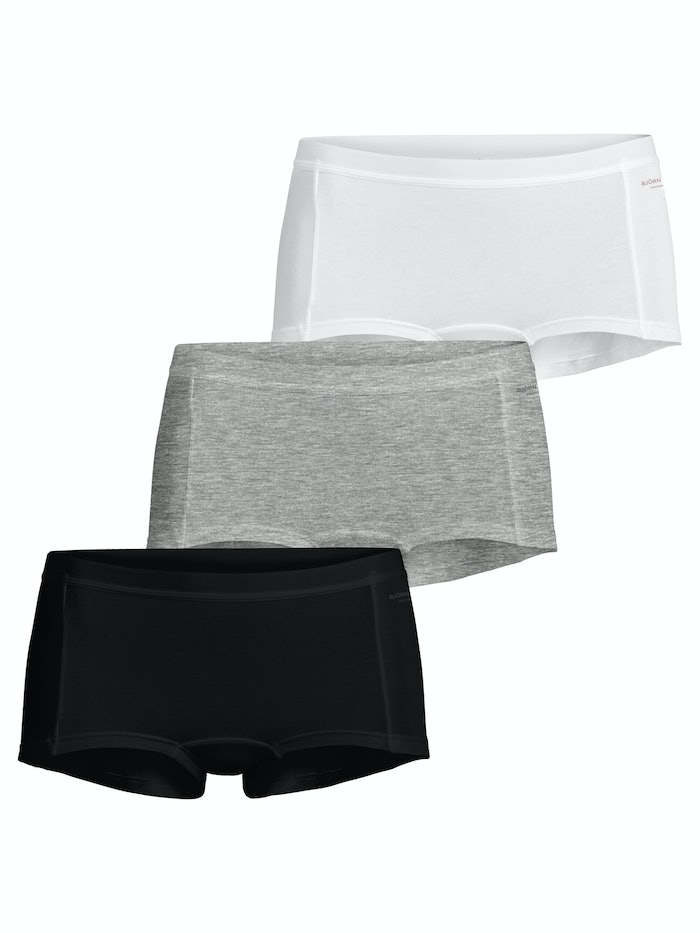 Solid Cotton Minishorts 3-pack