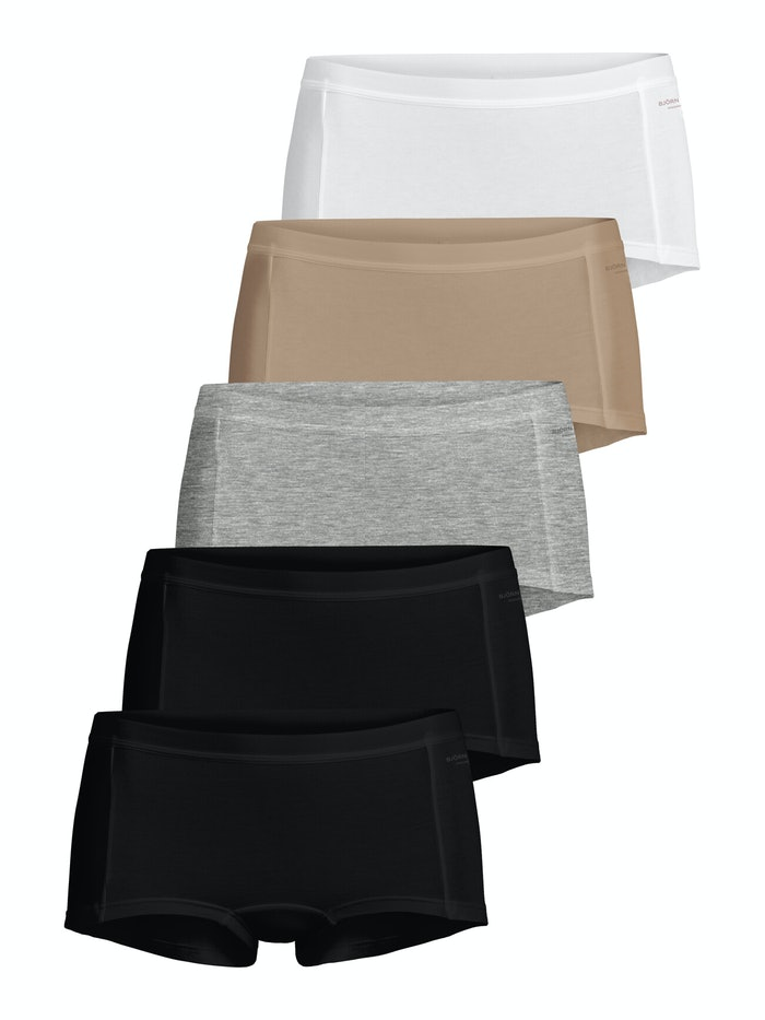 Solid Cotton Minishorts 5-pack